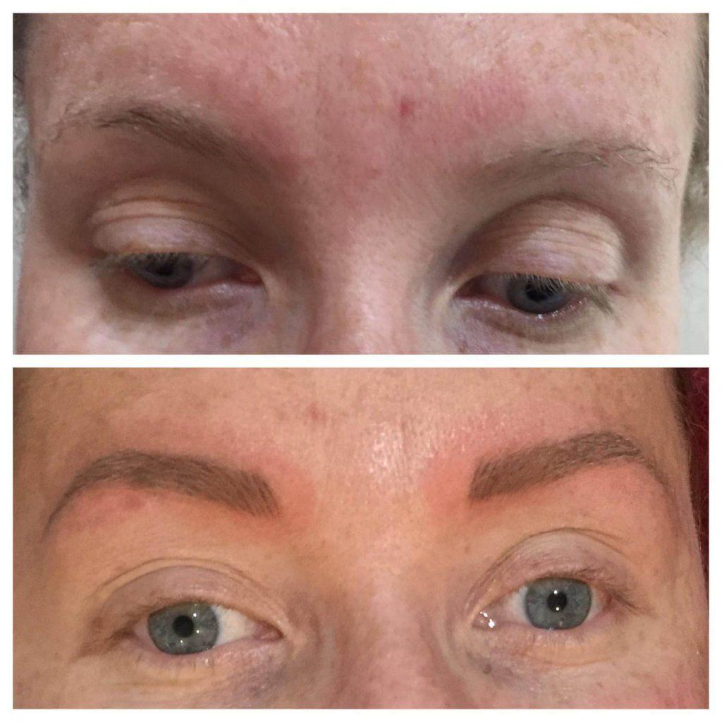 eyebrows before after transformation spmu chloe worcester
