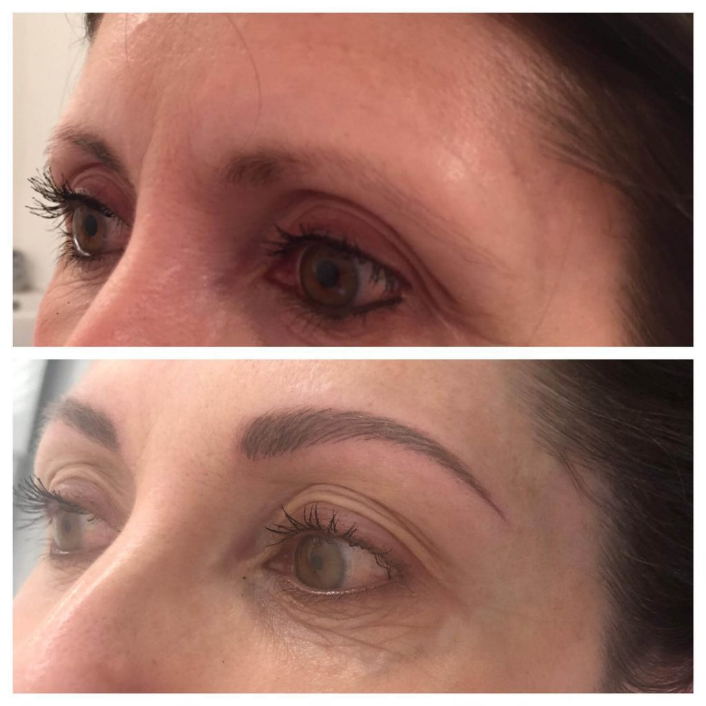 spmu chloe worcester eyebrows transformation