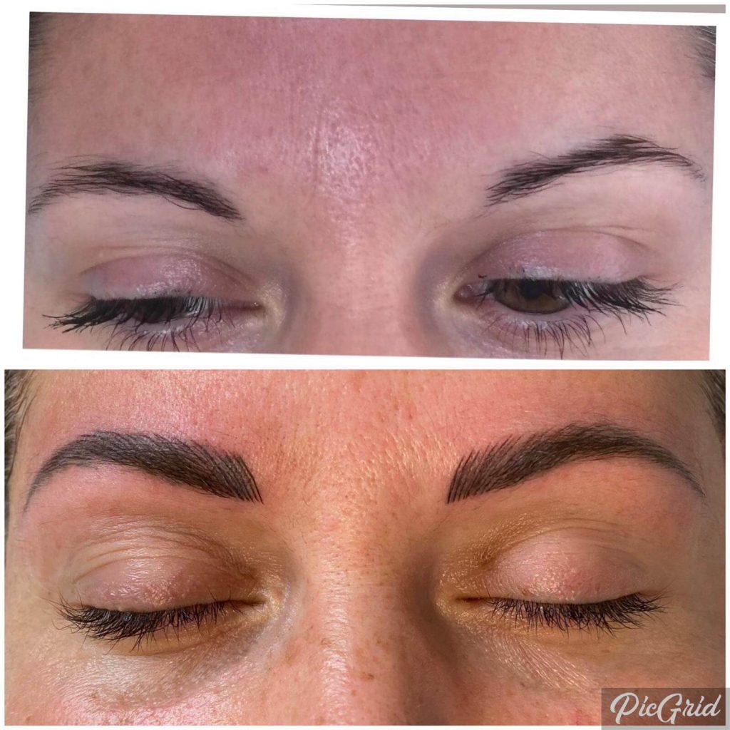 spmu chloe worcester eyebrows transformation before after
