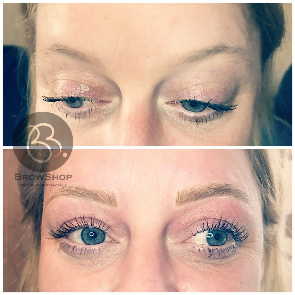 Semi-permanent makeup by Natalija Epsom client portoflio transformation